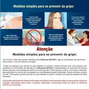 Panfleto sobre a H1N1 (Clique para ampliar)